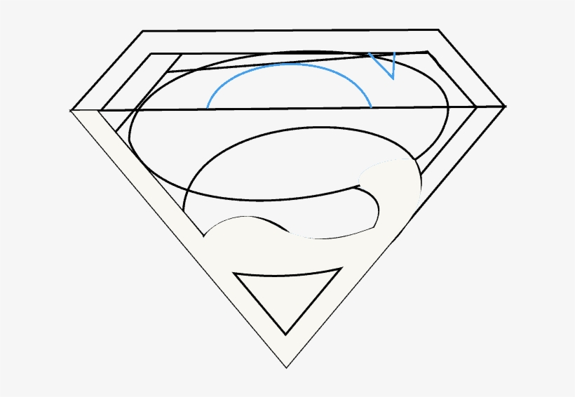 How To Draw Superman Logo Clip Art Free Transparent Png Download