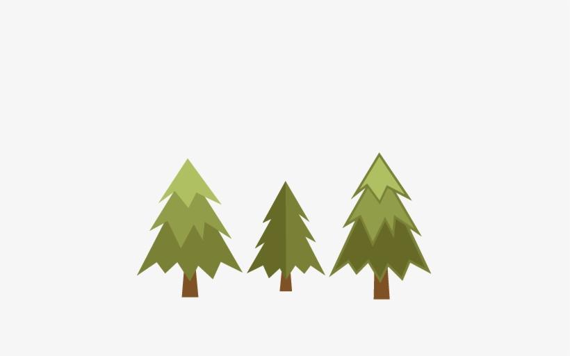 Pine Tree Set Svg Scrapbook Cut File Cute Clipart Files - Cute Pine Tree Clipart, transparent png #450973