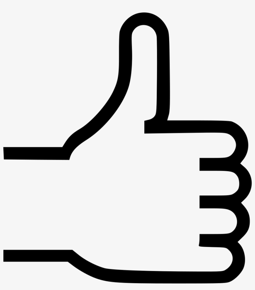 Approve Like Thumb Thumbs Up Vote Comments - Thumb Signal, transparent png #451177