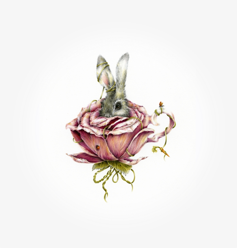 Home - Courtney Brims - Rabbit In Flower Tattoo, transparent png #451810