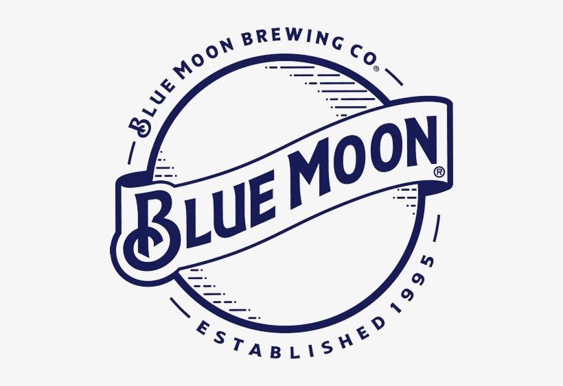 The Hop Review - Blue Moon Brewing Company Logo, transparent png #452887