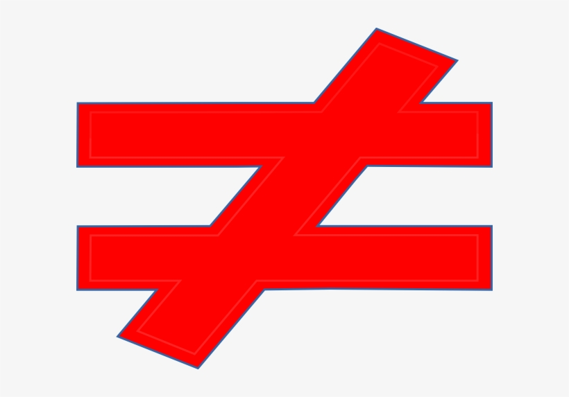 Not Equal To Clip Art At Clker - Does Not Equal Sign Red, transparent png #452940