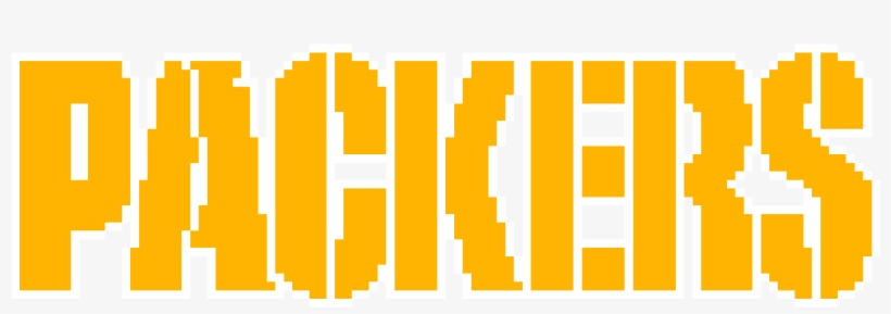 Pixelated Packers Wordart - Green Bay Packers, transparent png #452964