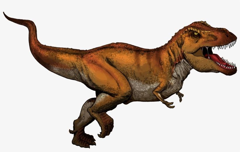 Tyrannosaurus Rex Colored - Tyrannosaurus Rex En Ingles, transparent png #453147