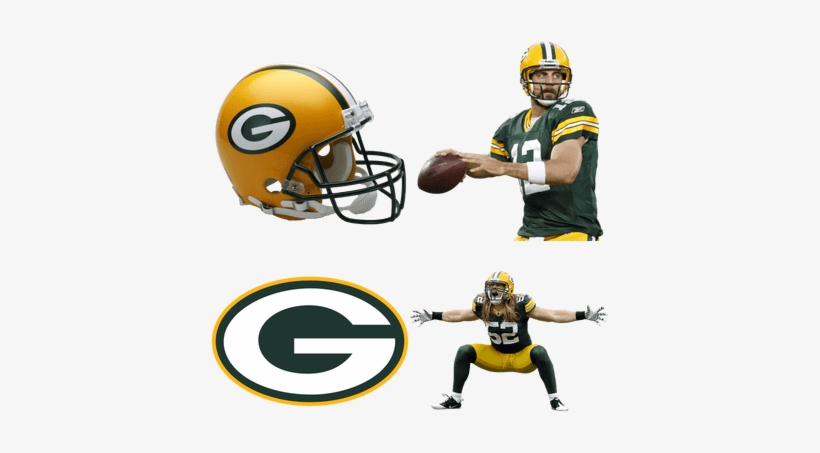 Green Bay Packers - Riddell Green Bay Packers Helmet, transparent png #453760