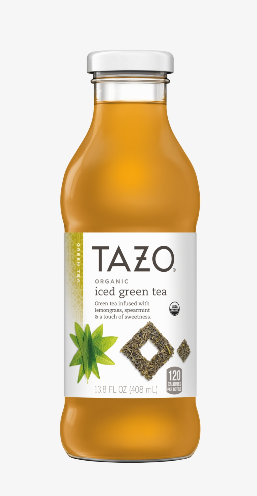Organic Iced Green Tea Bottle Tazo Tea Png Zen Iced - Tazo Organic Iced Green Tea - 13.8 Fl Oz Bottle, transparent png #454948