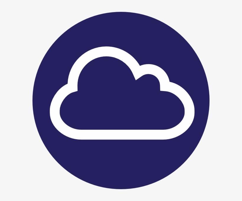 Blue Circle Cloud Icon Internet Clip Art At Clker Aws Internet