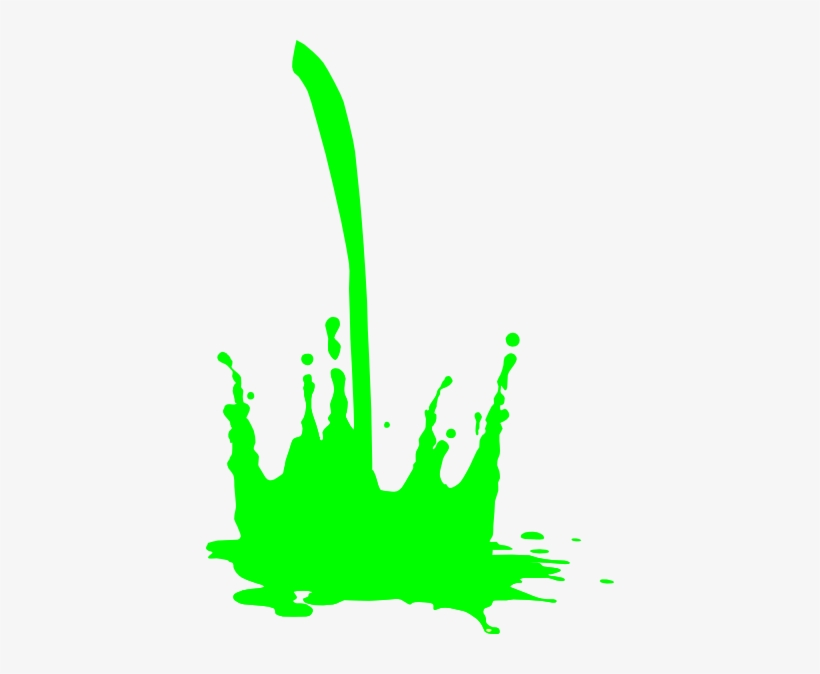 Slime Clipart - Green Paint Drip Png, transparent png #456356