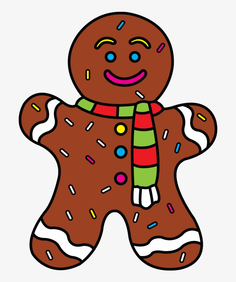 How To Draw Gingerbread Man - Drawing Of Gingerbread Man, transparent png #456674