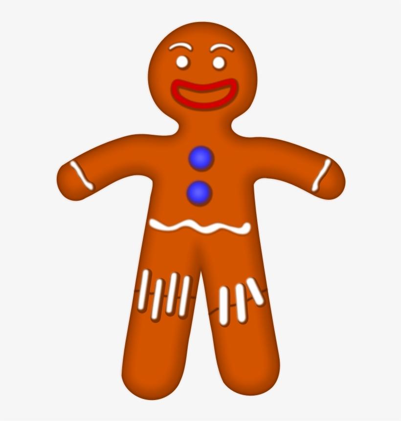 Storybook Gingerbread Man Clipart Svg Royalty Free - Gingerbread Man Clipart No Background, transparent png #456816