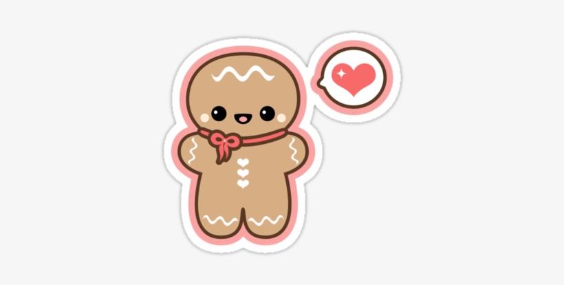 Cute Gingerbread Man By - Cute Gingerbread Man Drawing, transparent png #457217