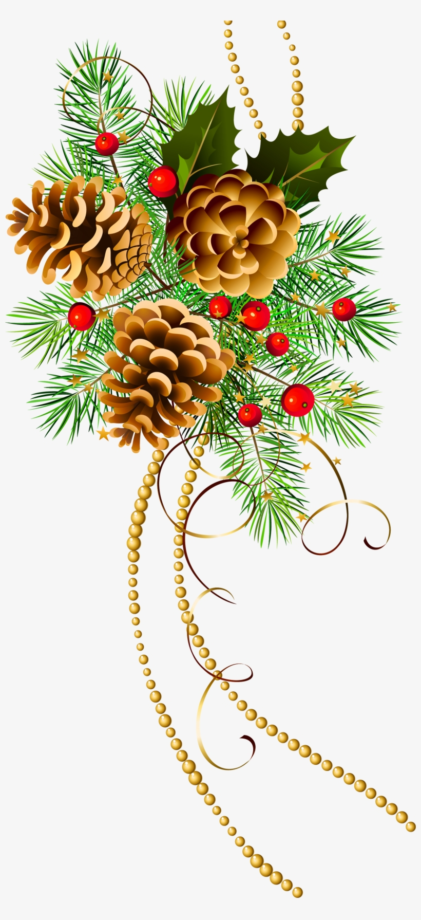 Christmas Pine Cone Png Graphic Download - Christmas Pine Cone Clip Art, transparent png #457451