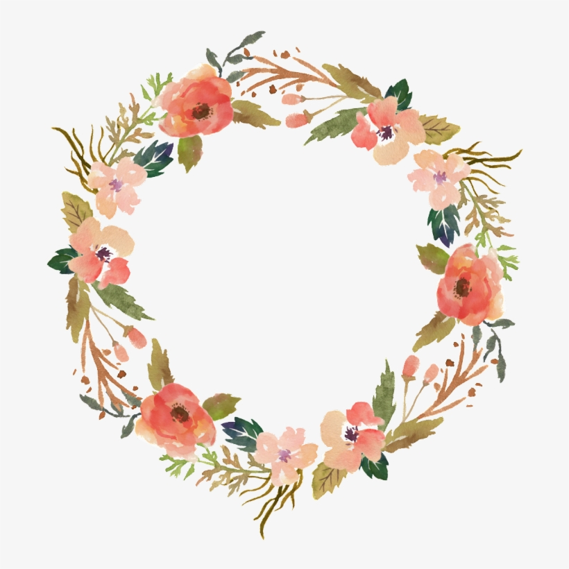 Flower Wreath Hand Painted Watercolor Transparent Ornamental - La Dolce Far Niente Sign, transparent png #459278