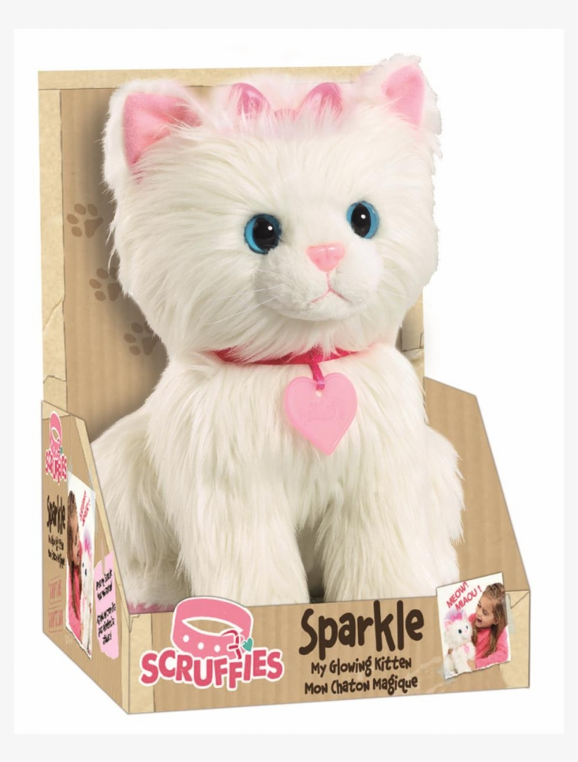 Auction - Animagic Scruffies Sparkle My Glowing Kitten, White, transparent png #4509345