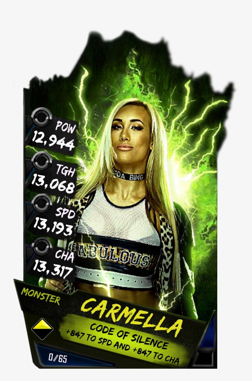 Carmella S4 17 Monster - Wwe Supercard Monster Cards, transparent png #4513656