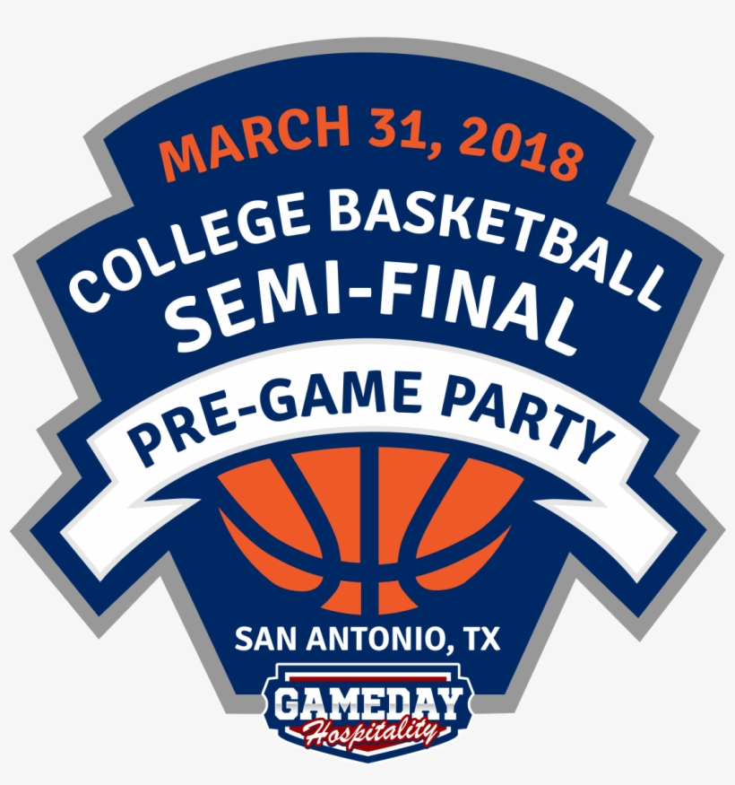 2018 College Basketball Semi Final Pre Game Party - Diy Basketball Logo Design, transparent png #4515102