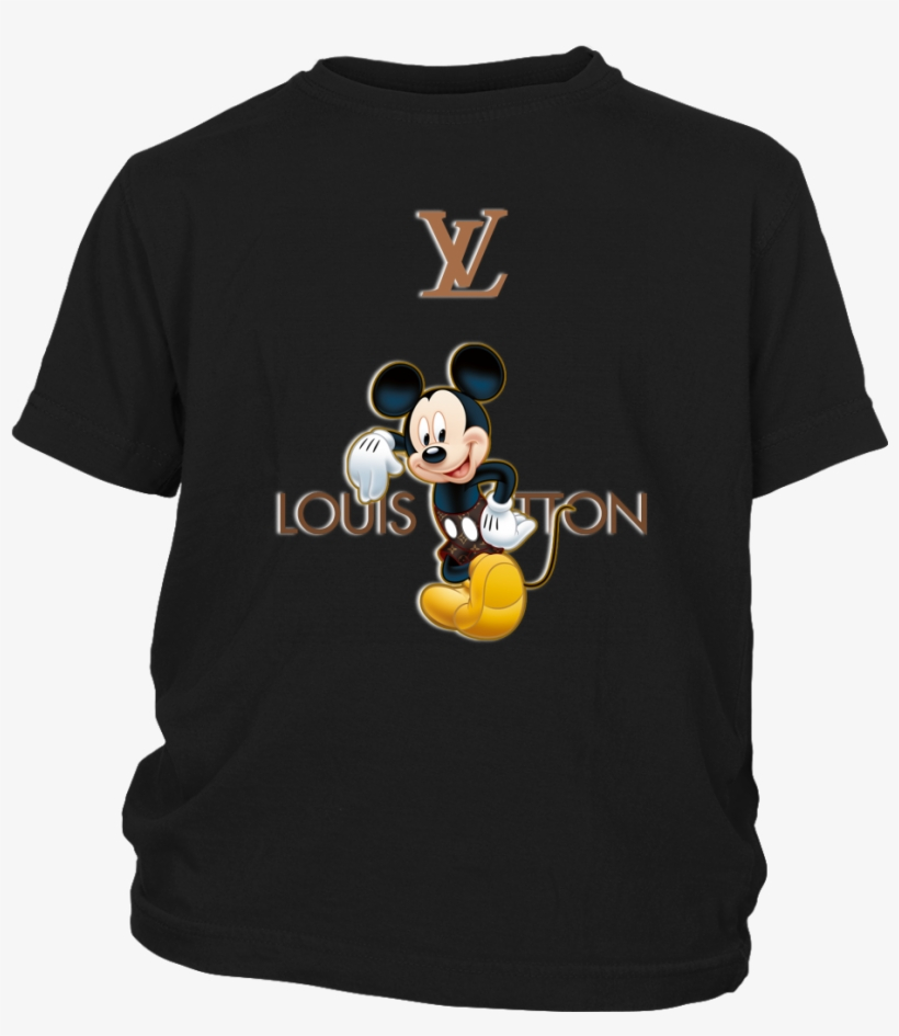Louis Vuitton Mickey Mouse Disney Shirts T Shirt District - Louis Vuitton Mickey Mouse T Shirt, transparent png #4516131