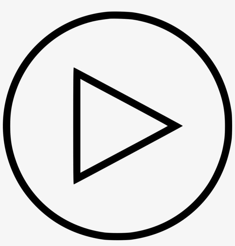 Play Now Sign Youtube Video Comments - Minimal Play Button Png, transparent png #4521315