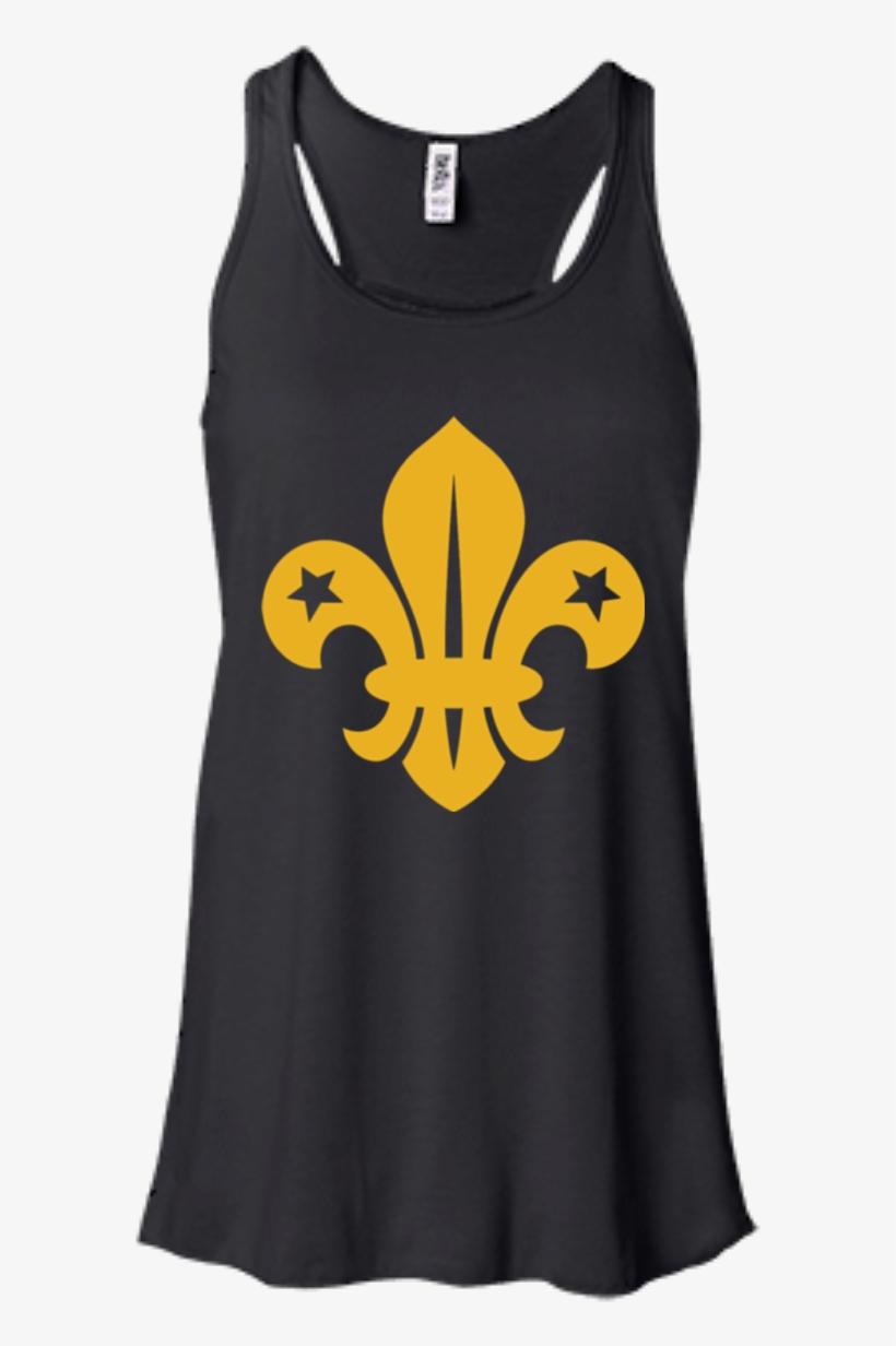 New Orleans Saints Logo Hoodies Sweatshirts - Bella + Canvas Ladies' Flowy Racerback Tank B8800, transparent png #4529456