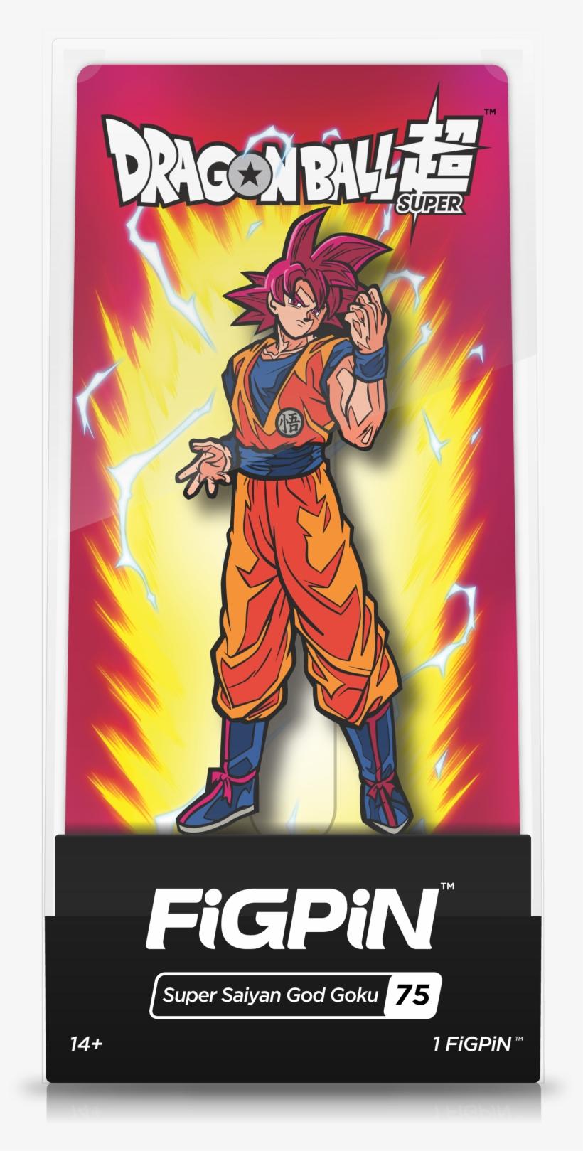 Super Saiyan God Goku - Dragon Ball Super Figpin, transparent png #4533912
