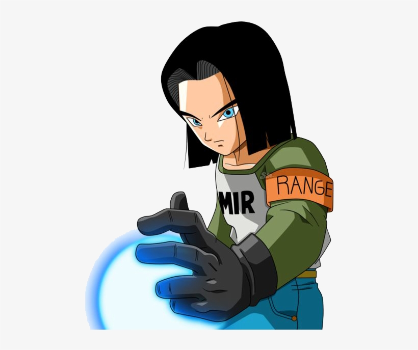 Renders Backgrounds Logos - Androide 17 Dragon Ball Z Render, transparent png #4534453