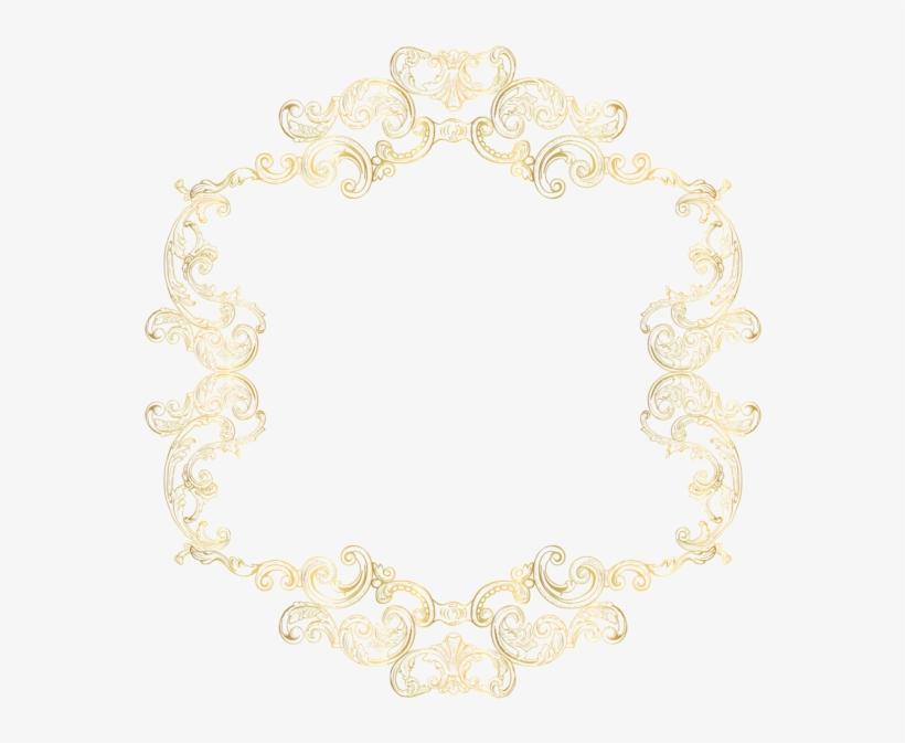 Gold Vintage Border Frame Clip Art Png Image - Gold Vintage Frame Png, transparent png #4536863