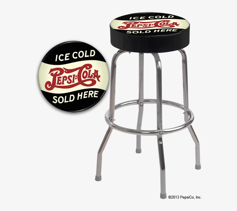 The Goal Of This Project Was To Showcase Some Of Pepsi's - Single Ring Bar Stool With Chrome Frame, transparent png #4539148