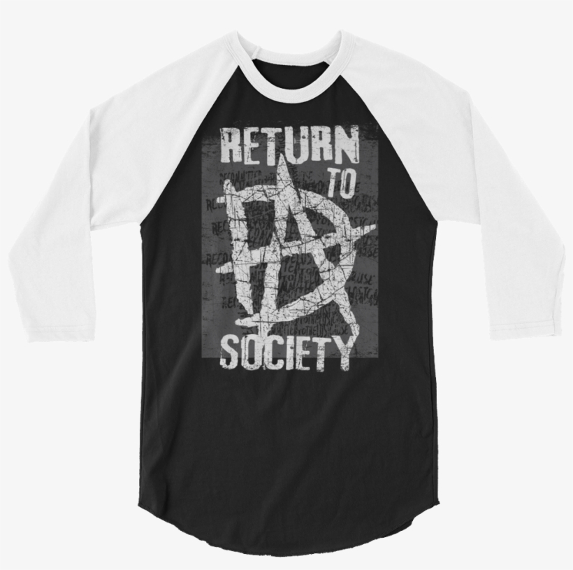 "Dean Ambrose ""return To Society"" 3/4 Sleeve Raglan - Dean Ambrose T Shirt Return To Society, transparent png #4541461"