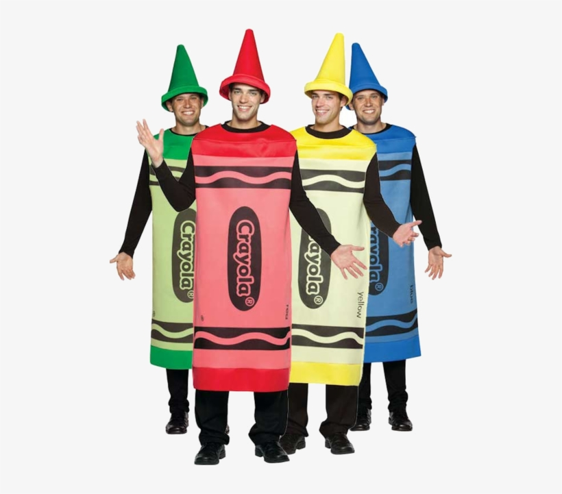 How To Kill The Halloween Group Costume - Crayola Red Crayon Adult Costume, transparent png #4548518