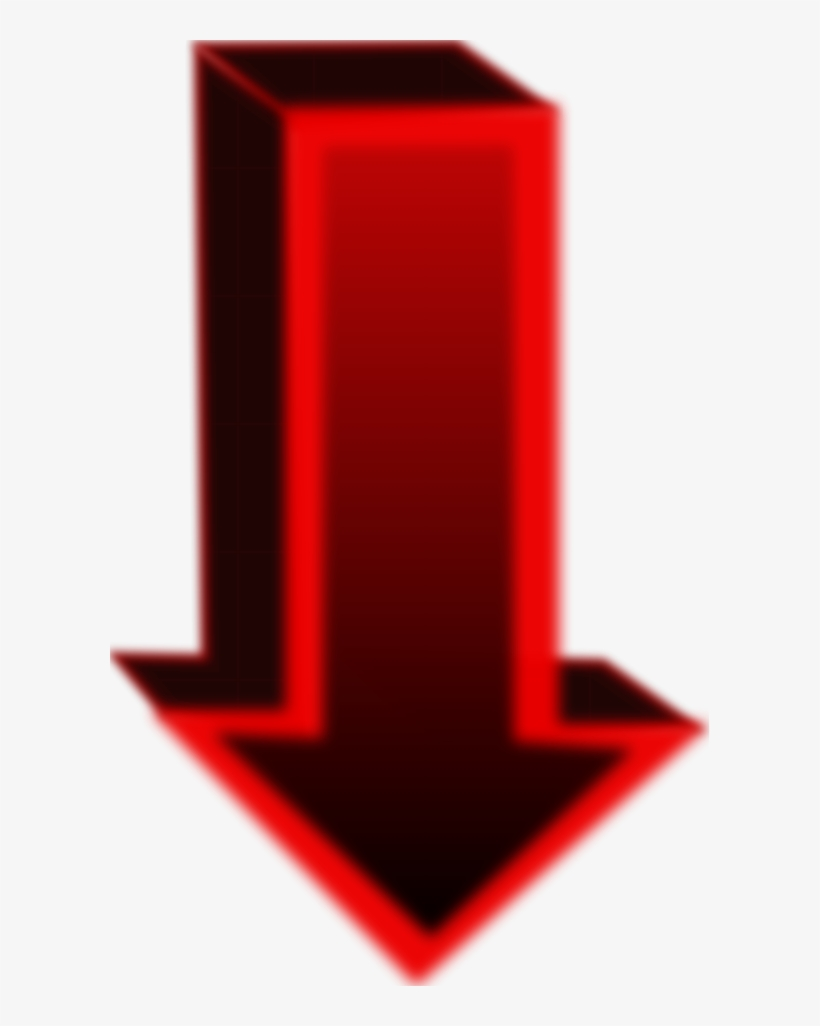 Cubic Arrow Pointing Down - Draw A Arrow Pointing Down, transparent png #4548871