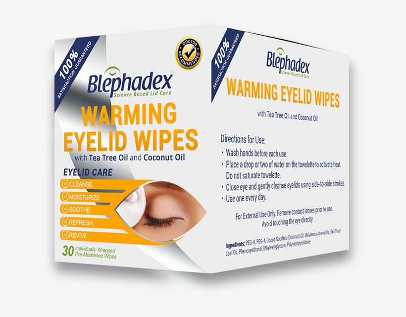 Buy Now - Blephadex - Eyelid Wipes - 30 Count, transparent png #4551525