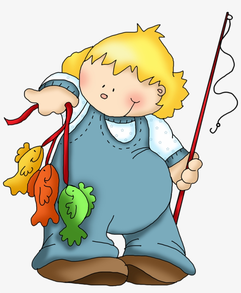 Fishing Clip Clipart Kid - Clipart Of Catching Fish, transparent png #4558092