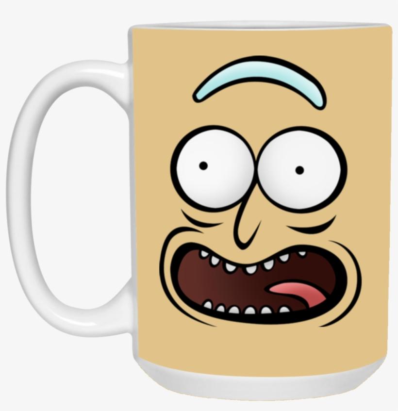 Rickz Pickles Funny Face Emoji Rick Mug Cup Gift Pickle Rick Face