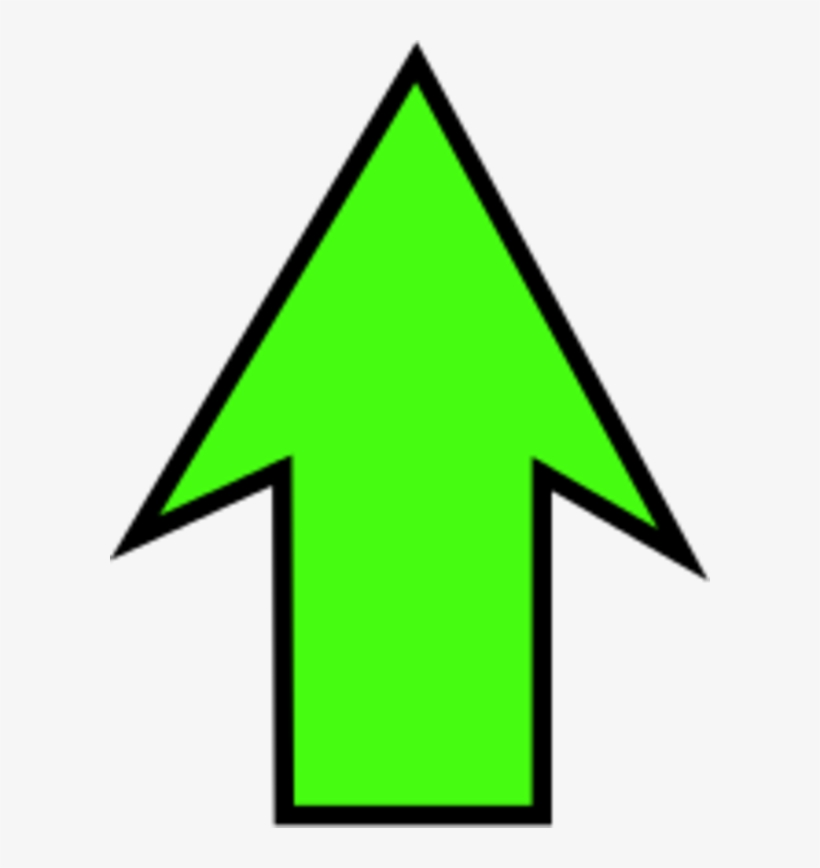 Arrow Pointing Down Clipart - Green Arrow Facing Up, transparent png #4562163