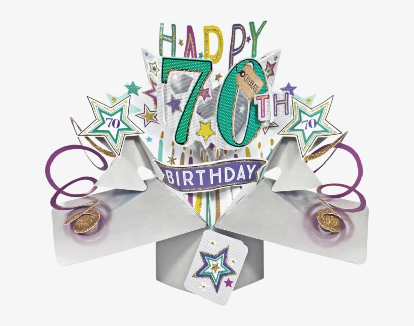 70th Birthday 3d Pop Up Card By Second Nature