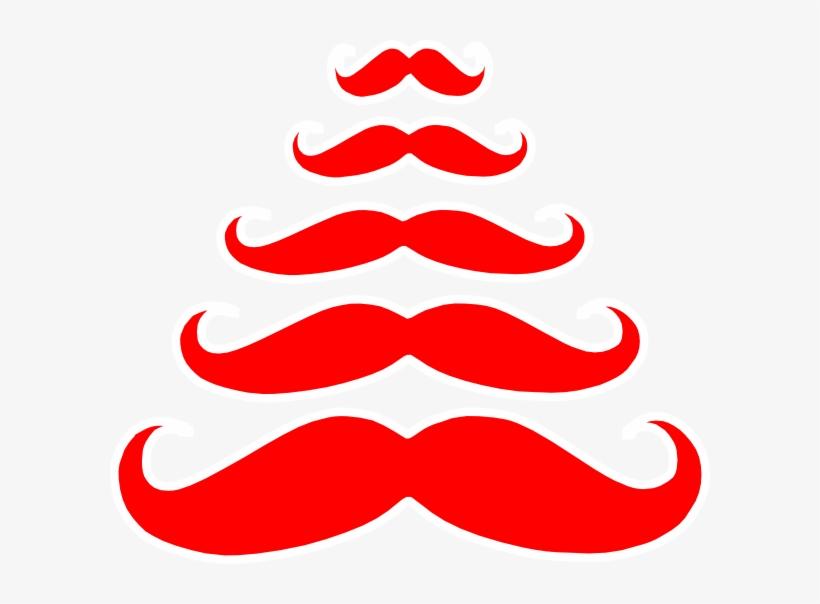Tree Clip Art At Clker Com Vector - Charlie-milly Design Christmas Tree Moustache Bag, transparent png #4567592