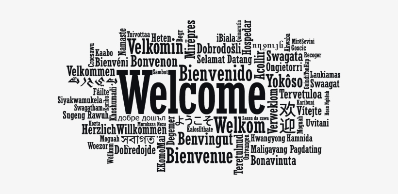 Welcome - Welcome In Different Languages Mural@pngkey.com