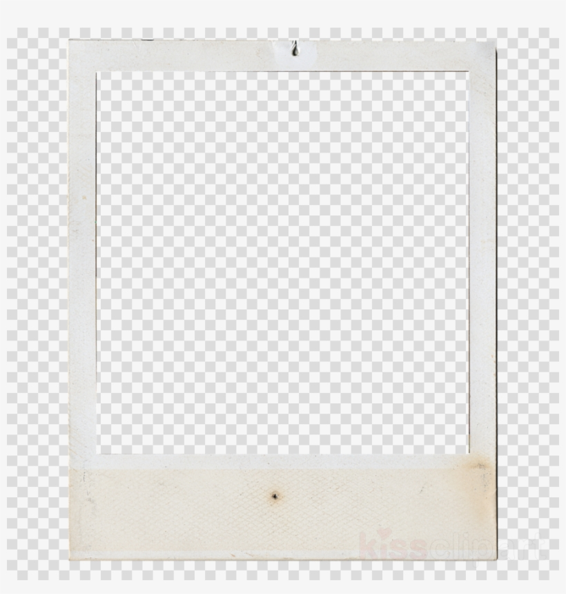 Polaroid Frame Clipart Instant Camera Picture Frames - Floral Frame Png Hd Black And White, transparent png #4569984