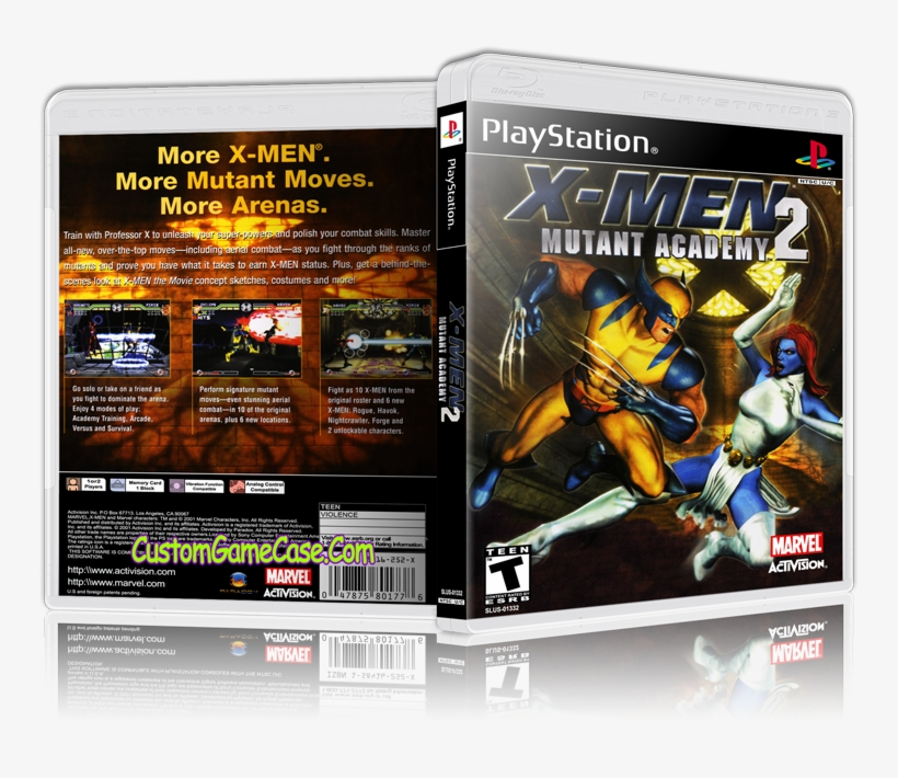 X-men Mutant Academy - X-men Mutant Academy 2 [playstation Game] - Cd, transparent png #4591411