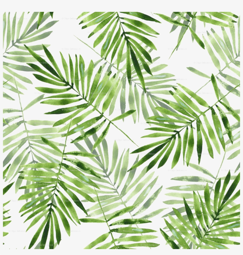 Green Palm Leaves Png Transparent - Palm Leaves Pattern Png, transparent png #4591606