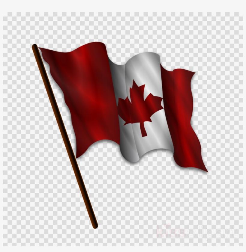 Download Waving Canadian Flag Vector Clipart Flag Of - Waving Canadian Flag Vector, transparent png #4592633