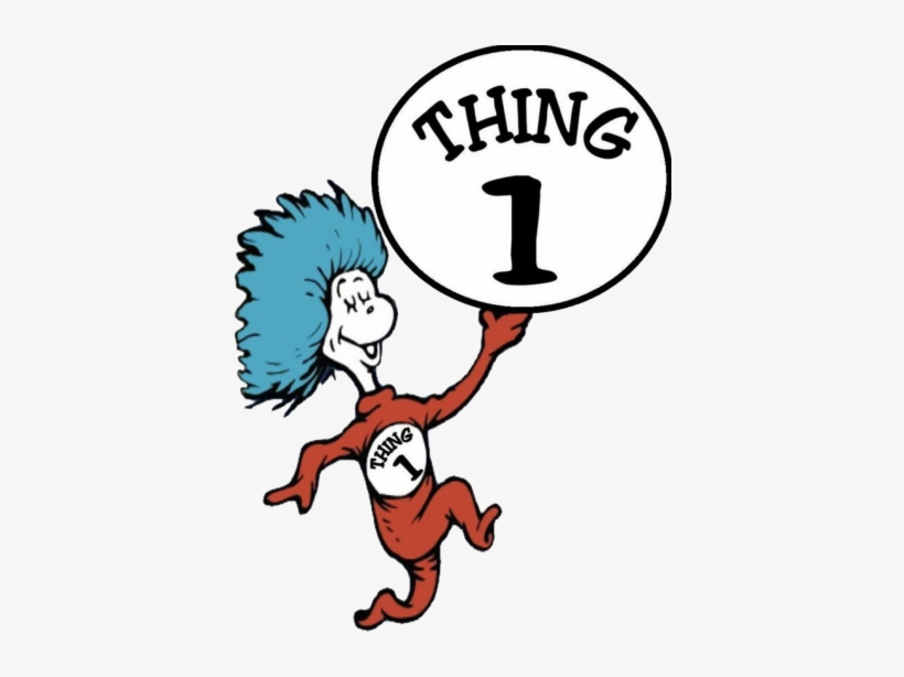 Thing 1 And Thing 2 Png - Thing 1 And Thing 2 Dr Seuss, transparent png #460932