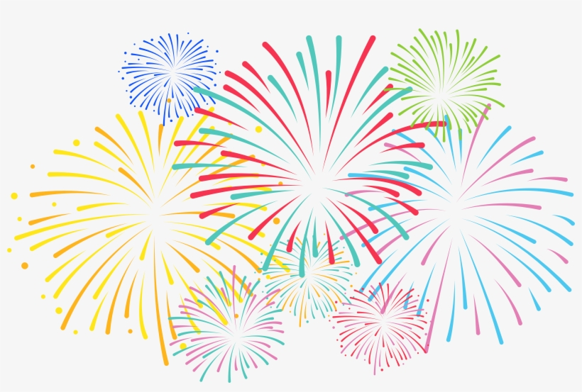 Png Royalty Free Library Fireworks Clip Art Gallery - Transparent Background Fireworks Clipart, transparent png #461521