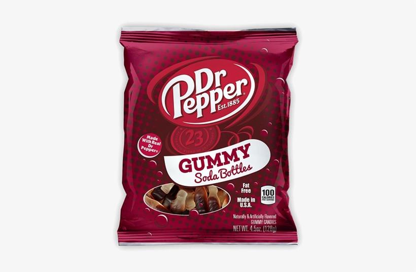 Pepper Gummy Soda Bottles - Dr. Pepper Soda Gummies - 4.5 Oz Bag, transparent png #462350