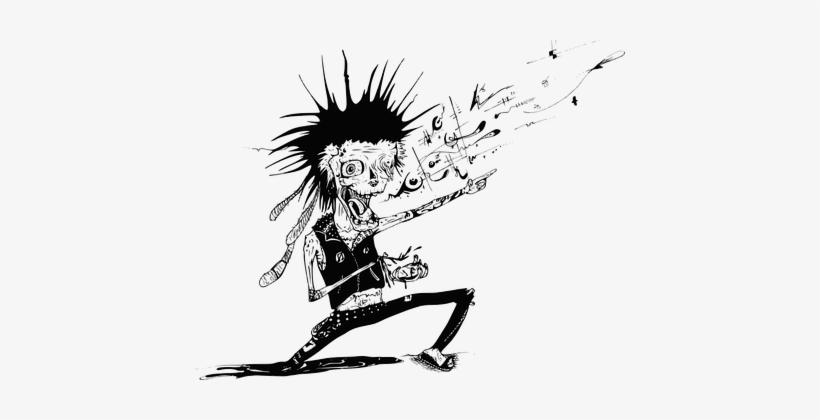 Zombie Undead Monster Punk Frankenstein Ha - Punk Rocker Clipart, transparent png #462440