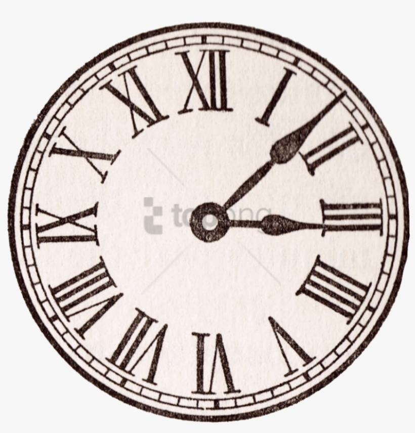 Antique Face Graphics From - Old Clock Face Roman Numerals, transparent png #463109