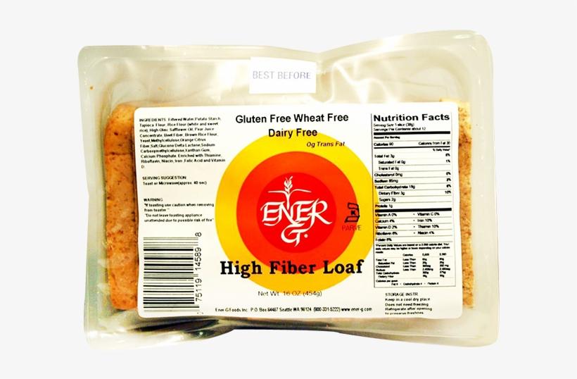 Ener G Foods High Fiber Rice Bread Loaf-16 Oz - Ener-g Bread, High Fiber - 16 Oz Loaf, transparent png #464078
