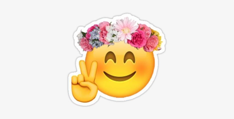 Pin By Tata On Emoji - Emoji With Flower Crown - Free Transparent ... c62fb655a