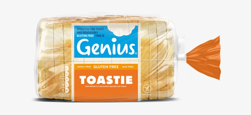 A Square Cut White Loaf Perfect For Toasties And Sandwiches - Genius Brown Sliced Bread 535g, transparent png #464576