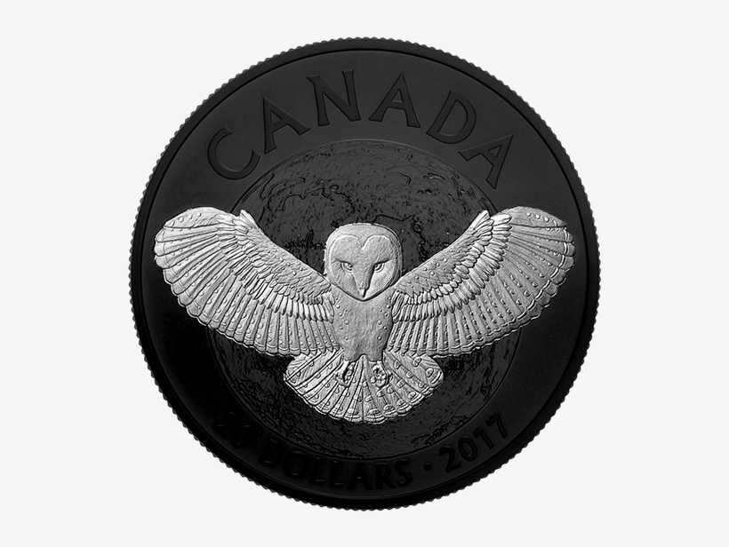 *nocturnal By Nature - 2017 Ca Barn Owl 1 Oz Silver Rhodium-plated Coin, transparent png #465056